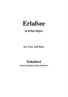 Erlafsee, D.586 Op.8 No.3: Für Stimme und Klavier (B Flat Major) by Franz Schubert
