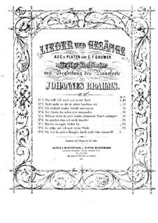 Neun Lieder, Op.32: Nr.9 Wie bist du, meine Königin by Johannes Brahms