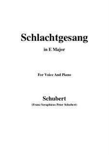 Schlachtgesang, D.443: E Major by Franz Schubert