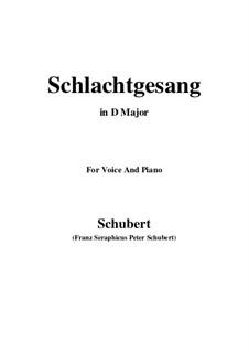 Schlachtgesang, D.443: D Major by Franz Schubert