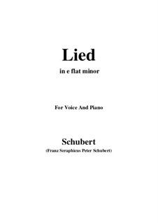 Mutter geht durch ihre Kammern, D.373: E flat minor by Franz Schubert