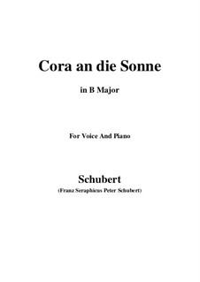 Cora an die Sonne, D.263: B Major by Franz Schubert