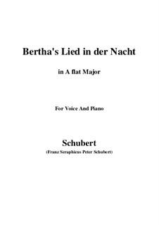 Bertha's Lied in der Nacht, D.653: A flat Major by Franz Schubert