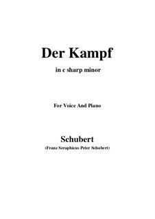 Der Kampf, D.594 Op.110: C sharp minor by Franz Schubert