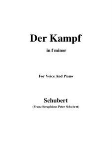 Der Kampf, D.594 Op.110: F minor by Franz Schubert