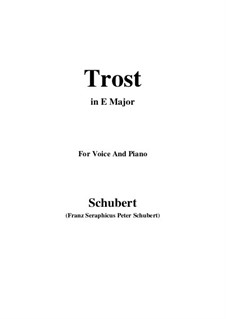 Trost, D.523: E Major by Franz Schubert