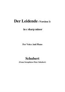 Der Leidende, D.432: First version (c sharp minor) by Franz Schubert