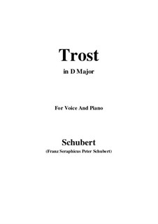 Trost, D.523: D Major by Franz Schubert