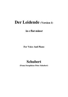 Der Leidende, D.432: First version (e flat minor) by Franz Schubert