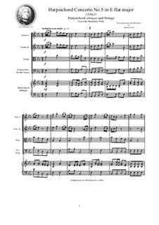 9 Concertos for Harpsicord obbligato and Strings: Concerto No.5 in E flat major, CSPla23 by Giovanni Benedetto Platti