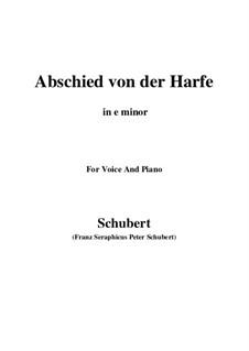 Abschied von der Harfe, D.406: E minor by Franz Schubert