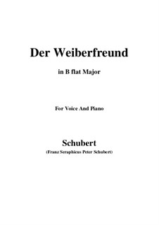 Der Weiberfreund, D.271: B flat Major by Franz Schubert