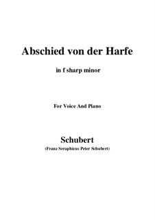 Abschied von der Harfe, D.406: F sharp minor by Franz Schubert