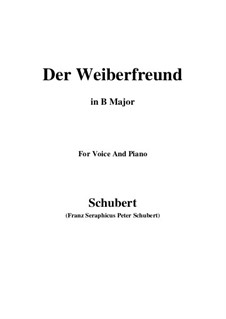 Der Weiberfreund, D.271: B Major by Franz Schubert