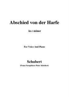 Abschied von der Harfe, D.406: C minor by Franz Schubert