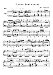 Vier Impromptus für Klavier, D.935 Op.142: Impromptu Nr.4 by Franz Schubert