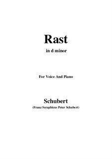Nr.10 Rast: For voice and piano (d minor) by Franz Schubert