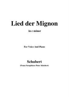 Nr.4 Lied der Mignon: C minor by Franz Schubert