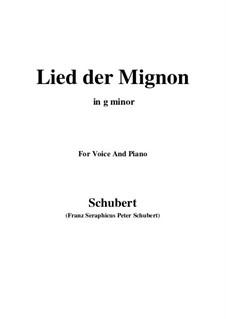 Nr.4 Lied der Mignon: G minor by Franz Schubert