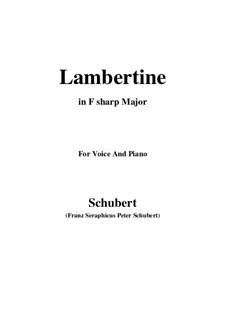 Lambertine, D.301: F sharp Major by Franz Schubert