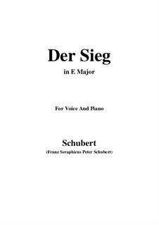 Der Sieg, D.805: E Major by Franz Schubert