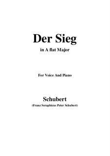Der Sieg, D.805: A flat Major by Franz Schubert