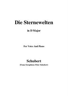Die Sternenwelten, D.307: D Major by Franz Schubert
