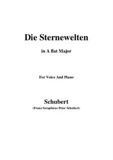 Die Sternenwelten, D.307: A flat Major by Franz Schubert