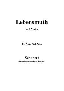 Lebensmuth, D.883: A-Dur by Franz Schubert