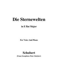 Die Sternenwelten, D.307: E flat Major by Franz Schubert