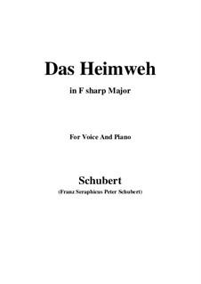 Das Heimweh, D.456: F sharp Major by Franz Schubert