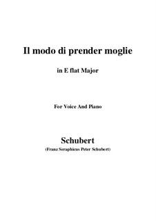 Drei Lieder, D.902 Op.83: No.1 Il modo di prender moglie (E flat Major) by Franz Schubert