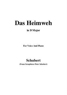 Das Heimweh, D.456: D Major by Franz Schubert