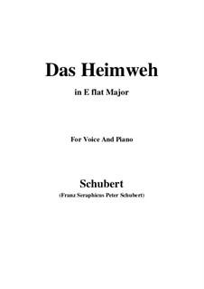Das Heimweh, D.456: E flat Major by Franz Schubert