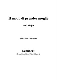 Drei Lieder, D.902 Op.83: No.1 Il modo di prender moglie (G Major) by Franz Schubert
