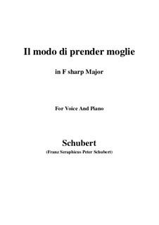 Drei Lieder, D.902 Op.83: No.1 Il modo di prender moglie (F sharp Major) by Franz Schubert