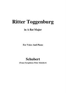 Ritter Toggenburg, D.397: A flat Major by Franz Schubert