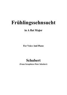 Nr.3 Frühlingssehnsucht: Für Stimme und Klavier (A Flat Major) by Franz Schubert
