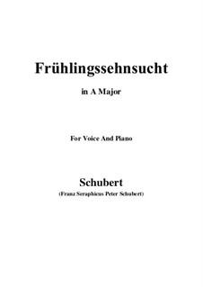 Nr.3 Frühlingssehnsucht: Für Stimme und Klavier (A Major) by Franz Schubert