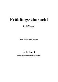 Nr.3 Frühlingssehnsucht: Für Stimme und Klavier (D Major) by Franz Schubert