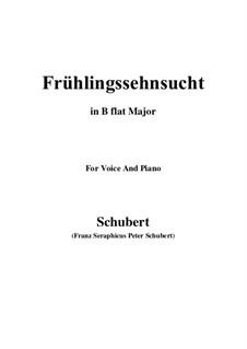 Nr.3 Frühlingssehnsucht: Für Stimme und Klavier (B Flat Major) by Franz Schubert