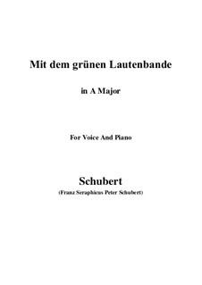 Nr.13 Mit dem grünen Lautenbande: A-Dur by Franz Schubert