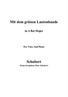 Nr.13 Mit dem grünen Lautenbande: A flat Major by Franz Schubert