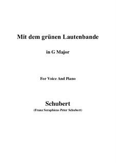 Nr.13 Mit dem grünen Lautenbande: G Major by Franz Schubert