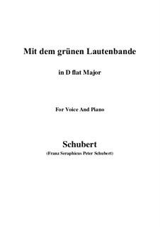 Nr.13 Mit dem grünen Lautenbande: D flat Major by Franz Schubert