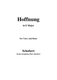 Hoffnung, D.295: E Major by Franz Schubert