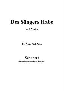 Des Sängers Habe, D.832: A-Dur by Franz Schubert