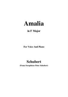 Amalia, D.195 Op.173 No.1: F-Dur by Franz Schubert