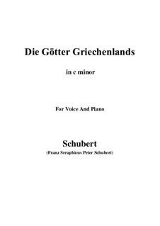 Die Götter Griechenlands, D.677: C minor by Franz Schubert