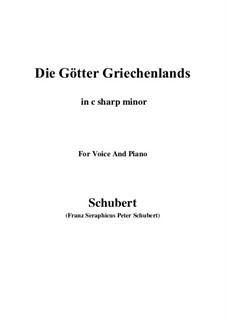 Die Götter Griechenlands, D.677: C sharp minor by Franz Schubert